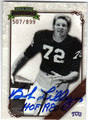 BOB LILLY TEXAS CHRISTIAN UNIVERSITY AUTOGRAPHED & NUMBERED FOOTBALL CARD #60713D