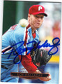 ROY HALLADAY PHILADELPHIA PHILLIES AUTOGRAPHED & NUMBERED BASEBALL CARD #60713F