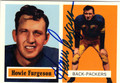 HOWIE FURGESON GREEN BAY PACKERS AUTOGRAPHED FOOTBALL CARD #60713G