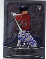 DANIEL NAVA BOSTON RED SOX AUTOGRAPHED ROOKIE BASEBALL CARD #60813C