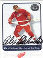 ALEX DELVECCHIO DETROIT RED WINGS AUTOGRAPHED HOCKEY CARD #60913A