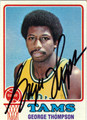 GEORGE THOMPSON AUTOGRAPHED VINTAGE BASKETBALL CARD #61012A