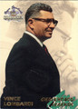 VINCE LOMBARDI FOOTBALL CARD #61112A