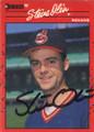 Steve Olin Autographed Baseball Card 614