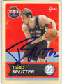 TIAGO SPLITTER SAN ANTONIO SPURS AUTOGRAPHED BASKETBALL CARD #61513F