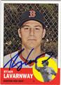 RYAN LAVARNWAY BOSTON RED SOX AUTOGRAPHED BASEBALL CARD #61513G