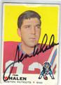 JIM WHALEN BOSTON PATRIOTS AUTOGRAPHED VINTAGE FOOTBALL CARD #61813i