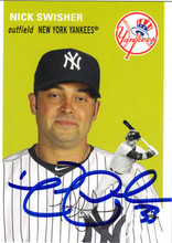 Nick Swisher Autographed Baseball Card 61912a