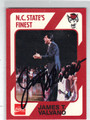 JIMMY VALVANO NORTH CAROLINA STATE AUTOGRAPHED BASKETBALL CARD #61813J