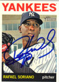 RAFAEL SORIANO NEW YORK YANKEES AUTOGRAPHED BASEBALL CARD #62113B