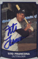 Tito Francona Autographed Baseball Card 624