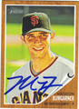 MADISON BUMGARNER AUTOGRAPHED BASEBALL CARD #62212i