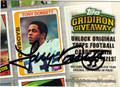 TONY DORSETT DALLAS COWBOYS AUTOGRAPHED FOOTBALL CARD #62312B