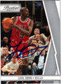 LUOL DENG CHICAGO BULLS AUTOGRAPHED BASKETBALL CARD #62411Z
