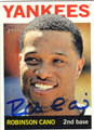 ROBINSON CANO NEW YORK YANKEES AUTOGRAPHED BASEBALL CARD #70813A