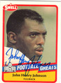 JOHN HENRY JOHNSON AUTOGRAPHED FOOTBALL CARD #70913H