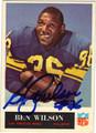 BEN WILSON LOS ANGELES RAMS AUTOGRAPHED VINTAGE FOOTBALL CARD #70813B