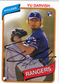 YU DARVISH AUTOGRAPHED ROOKIE BASEBALL CARD #70912C