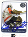 BERNIE PARENT PHILADELPHIA FLYERS AUTOGRAPHED HOCKEY CARD #70913F