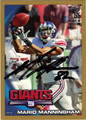 MARIO MANNINGHAM AUTOGRAPHED & NUMBERED FOOTBALL CARD #71311Z
