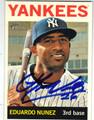 EDUARDO NUNEZ NEW YORK YANKEES AUTOGRAPHED BASEBALL CARD #71313F