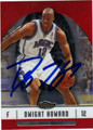 DWIGHT HOWARD ORLANDO MAGIC AUTOGRAPHED BASKETBALL CARD #71411Y