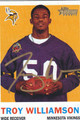 TROY WILLIAMSON AUTOGRAPHED ROOKIE FOOTBALL CARD #71711D