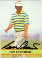 BEN CRENSHAW AUTOGRAPHED GOLF CARD #71912B