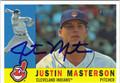 JUSTIN MASTERSON AUTOGRAPHED BASEBALL CARD #71912A