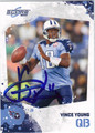 VINCE YOUNG AUTOGRAPHED FOOTBALL CARD #72011O