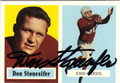 DON STONESIFER CHICAGO CARDINALS AUTOGRAPHED FOOTBALL CARD #72013E