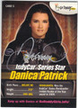 DANICA PATRICK AUTOGRAPHED NASCAR CARD #72113i