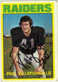 PHIL VILLAPIANO AUTOGRAPHED VINTAGE ROOKIE FOOTBALL CARD #72211i