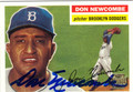 DON NEWCOMBE AUTOGRAPHED BASEBALL CARD #72312F