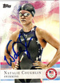 NATALIE COUGHLIN AUTOGRAPHED SWIMMING CARD #72312G