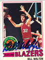 BILL WALTON AUTOGRAPHED BASKETBALL CARD #72411O