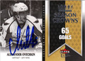 ALEXANDER OVECHKIN AUTOGRAPHED HOCKEY CARD #72412B