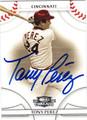TONY PEREZ AUTOGRAPHED BASEBALL CARD #72511i