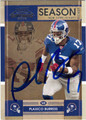 PLAXICO BURRESS AUTOGRAPHED FOOTBALL CARD #72511O