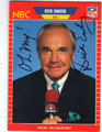 DICK ENBERG NBC ANNOUNCER AUTOGRAPHED CARD #72513A
