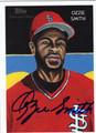 OZZIE SMITH AUTOGRAPHED BASEBALL CARD #72611Y
