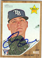 JAKE McGEE TAMPA BAY RAYS AUTOGRAPHED ROOKIE BASEBALL CARD #72613A