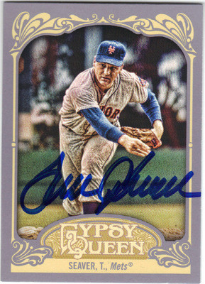 Tom Seaver New York Mets Autographed Baseball Card 72513j