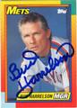 BUD HARRELSON NEW YORK METS AUTOGRAPHED BASEBALL CARD #72613E