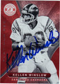 KELLEN WINSLOW SAN DIEGO CHARGERS AUTOGRAPHED FOOTBALL CARD #72613G