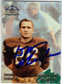 DON SHULA AUTOGRAPHED ERROR FOOTBALL CARD #72713F