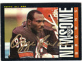 OZZIE NEWSOME CLEVELAND BROWNS AUTOGRAPHED FOOTBALL CARD #72713i