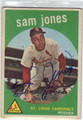 SAM JONES ST LOUIS CARDINALS AUTOGRAPHED VINTAGE BASEBALL CARD #72813C