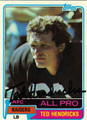 TED HENDRICKS AUTOGRAPHED VINTAGE FOOTBALL CARD #73011C