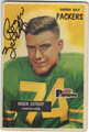 ROGER ZATKOFF GREEN BAY PACKERS AUTOGRAPHED VINTAGE FOOTBALL CARD #73013i